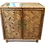 Thumbnail: Boho Chic Bamboo Side Table 2 Door Cabinet With Glass Top