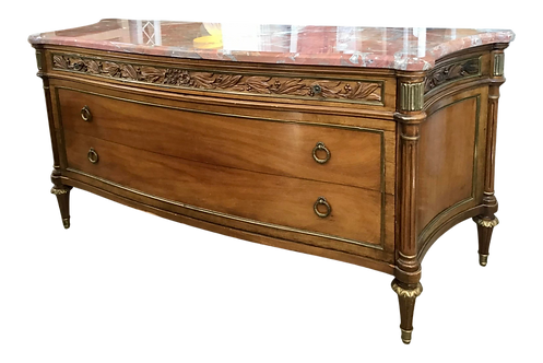 Jansen Moderne Large Commode With Marble Top