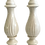 Thumbnail: Hollywood Regency White Ceramic Table Lamps - a Pair