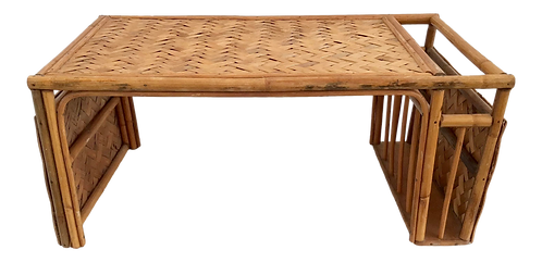 Bamboo Tray With Side Rack