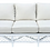 Thumbnail: Ficks Reed Sofa in Fresh White Lacquer and Todd Hase Textiles