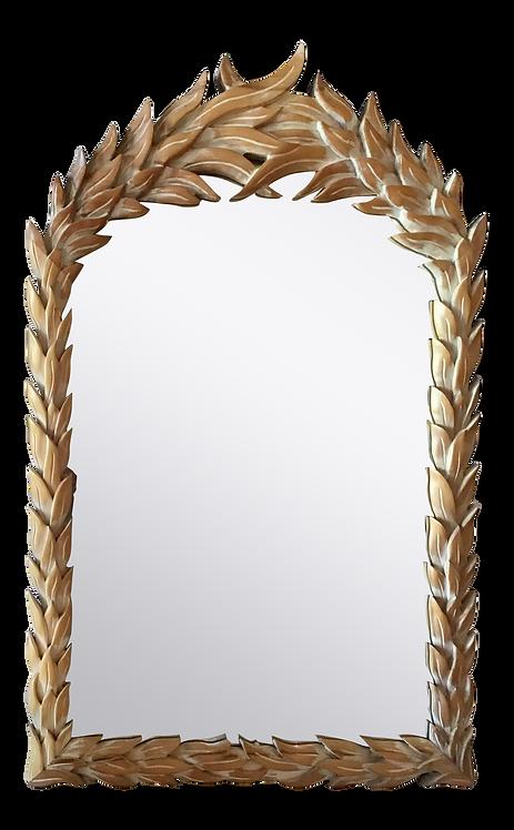Hollywood Regency Palm Carved Mirror