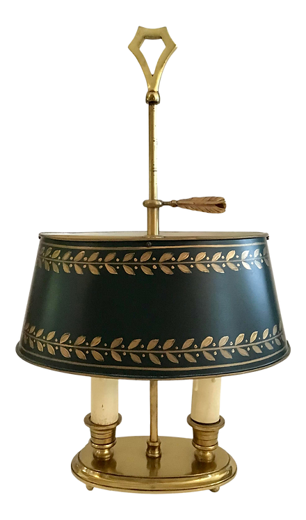 French Tole Shade Vintage Lamp