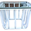 Thumbnail: Boho Chic White Rattan Square Side Table