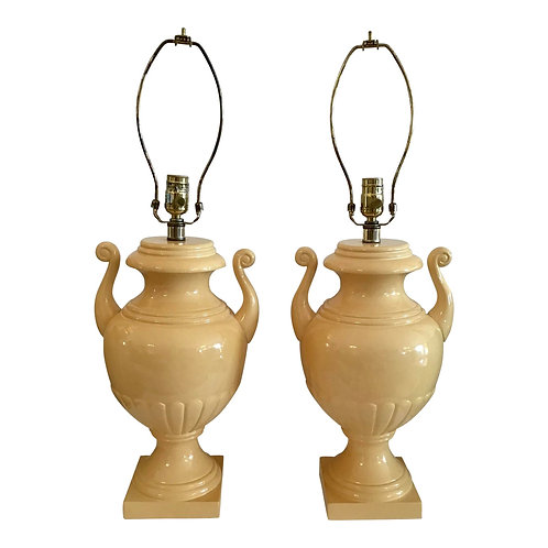 Todd Hase Urn Lamps - a Pair