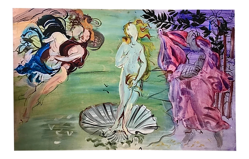 The Birth of Venus Printed on Canvas in the Style of Raoul Dufy