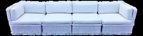 Bielecky Brothers Boho Chic White Rattan Four Piece Modular Sectional