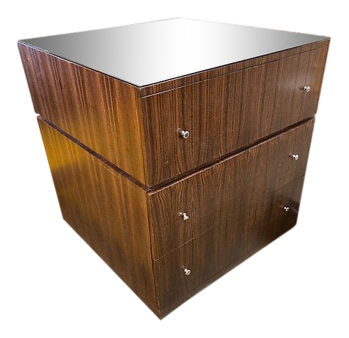 Todd Hase Large Pedestal With Writing Desk and File Drawers in Macassar Ebony