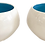 Thumbnail: Modern Ceramic White Bowls With Turquoise Interior - a Pair
