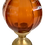 Thumbnail: French Amber Glass Newel Post Finial