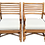 Thumbnail: Boho Chic Rattan Arm Chairs With New Sunbrella Upholstery - a Pair