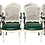 Thumbnail: Classic French Louis XV Fauteuil Arm Dining Chairs - Set of 8