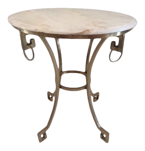 Todd Hase Onyx Christelle Gueridon Top Side Table