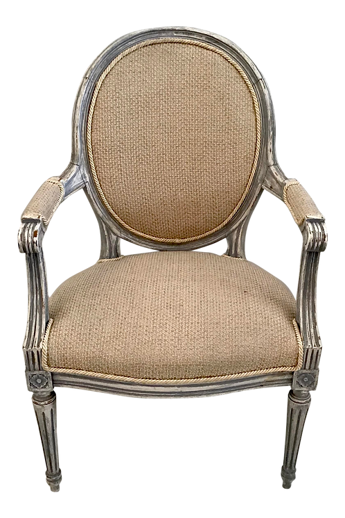 19th Century French Louis XVI Fauteuil