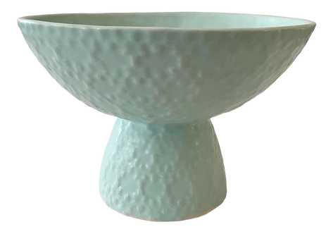 Raised Bowl in Matte Mint Ceramic Cache Pot