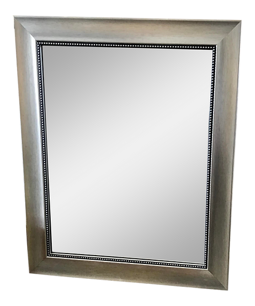 1980s Silver Painted Bathroom Mirror