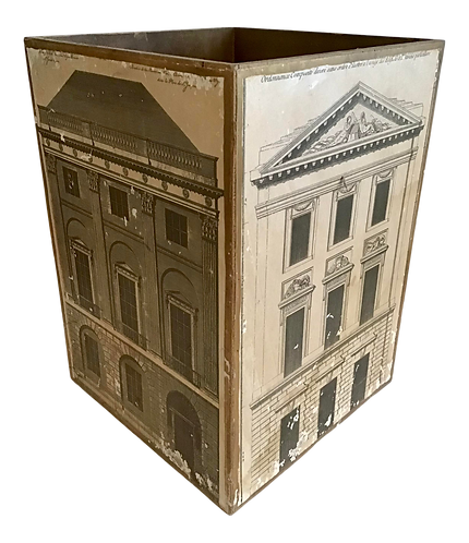 Neoclassical Architectural Waste Paper Basket