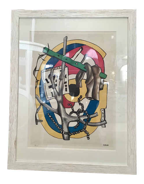 1950s Abstract Fernand Leger Multi Color Lithograph