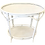 Thumbnail: Boho Chic Oval Rattan Bar Table White Lacquer