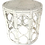 Thumbnail: Boho Chic Rattan Drum Cocktail Table in White Finish