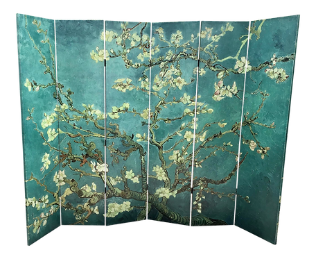 Chinoiserie Folding Screen Printed on Canvas