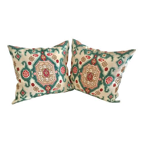 Boho Chic Rose Cummings Toss Pillows - a Pair