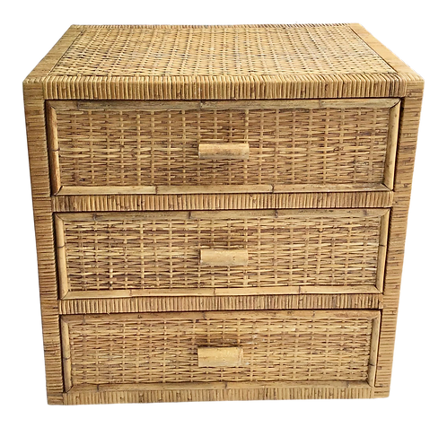 Boho Chic Bielecky Brothers Rattan 3 Drawer Chest