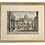 Thumbnail: French 18th C Etching of Architectural Scene With Watercolor Details