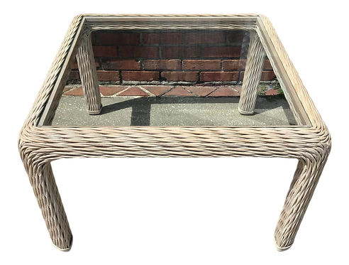 Boho Chic Wicker Large Square Side Table