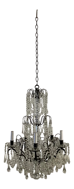Hollywood Regency Murano Glass Chandelier