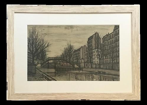 Bernard Buffet Signed Lithograph of Paris