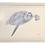 Thumbnail: Original Blue Watercolor of a Sea Turtle Right