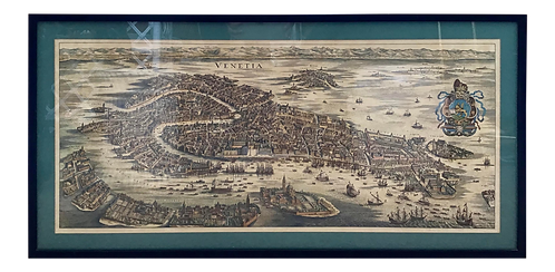 Map of Venice Framed