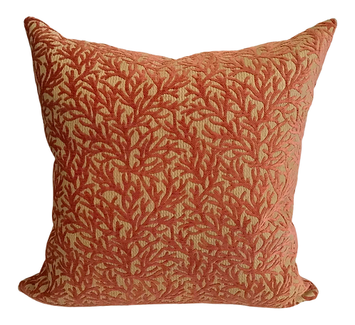 Coral Velvet Toss Pillow Newly Made