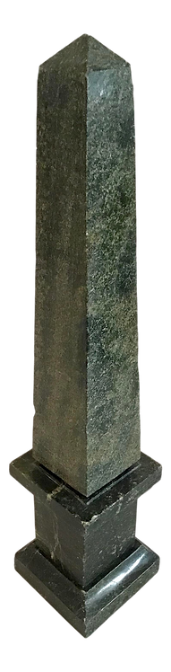 Mid 19th Century Dark Green Marble Obelisk