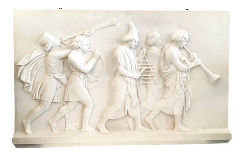 Classical Plaster Frieze With Figures