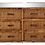 Thumbnail: Bielecky Brothers Six Drawers Double Dresser With Glass Top