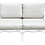 Thumbnail: Palm Beach Regency White Lacquered Love Seat for Outdoors