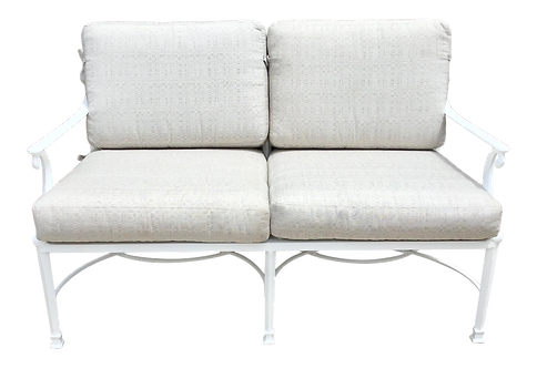 Palm Beach Regency White Lacquered Love Seat for Outdoors