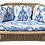 Thumbnail: Boho Chic Rattan Loveseat With Blue and White Cushions