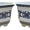 Thumbnail: Hexagonal White and Blue Cachepots - a Pair