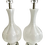 Thumbnail: White Murano Glass Tall Vase Lamps With Lucite Bases - a Pair