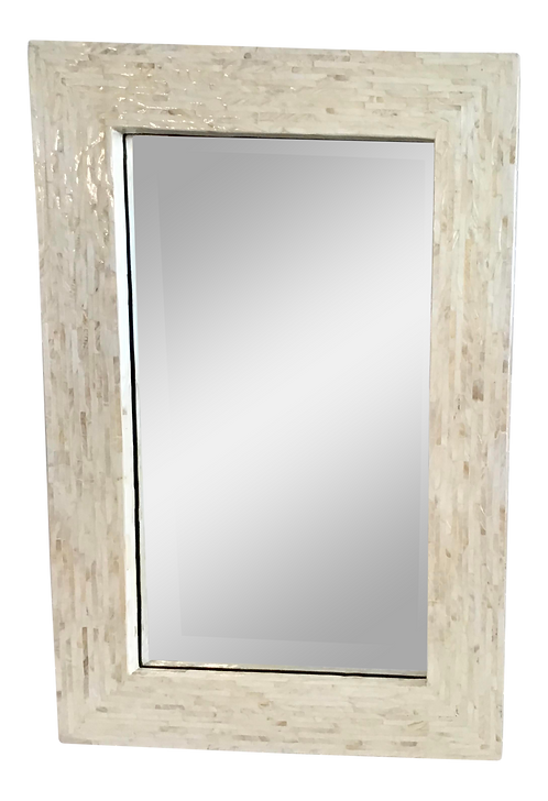 1970s Tessellated Mother-Of-Pearl Mirror