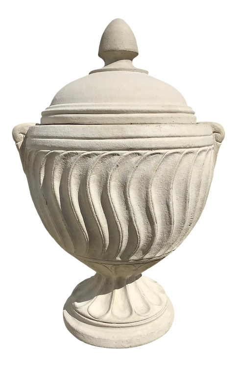 Stone Carved Urn With Cover