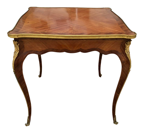 French Louis XV Transition Square Center Table