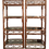 Thumbnail: Boho Chic Rattan Etageres in Faux Tortoise Painted Finish - a Pair
