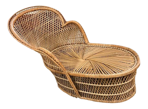 Rattan Childs Chaise