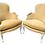 Thumbnail: Classic French Louis XV Bergere Chairs in New Todd Hase Upholstery - a Pair