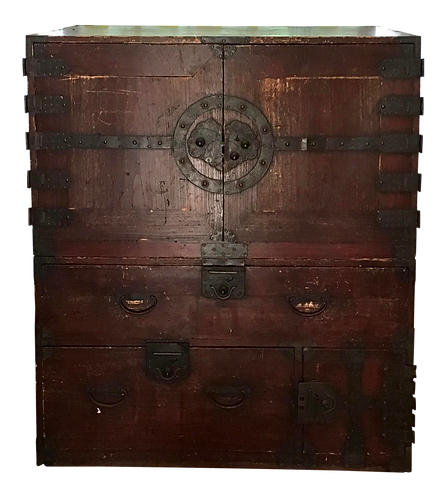 Asian Double Stacking Cabinet