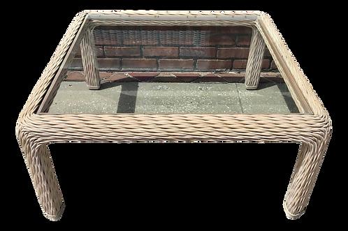 Boho Chic Rattan Square Coffee Table